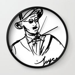 James Joyce Portrait Mug Wall Clock