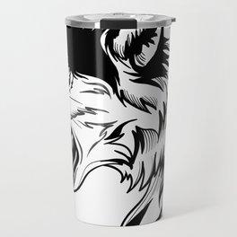 wild wolf tatto Travel Mug