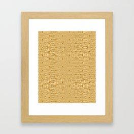 Honeycomb Geometric Pattern Framed Art Print