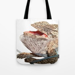 A Chameleon With Open Mouth Isolated Tote Bag