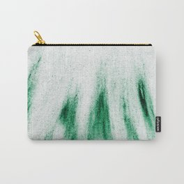 Sandy Green Feathers Carry-All Pouch