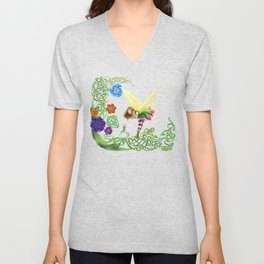 Flower Fairy Unisex V-Neck