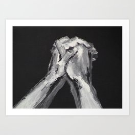 Abstract Prayer by Robert S. Lee Art Print