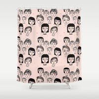faces Shower Curtains featuring Faces by Jonny Bateau