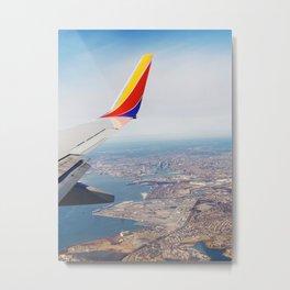 Flying over Baltimore, Maryland Metal Print