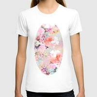 pink T-shirts featuring Love of a Flower by Girly Trend