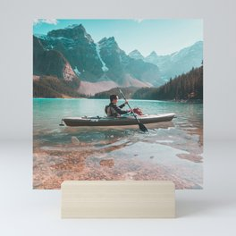Canada Photography - Kayaking In A Canadian Lake Mini Art Print