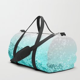 Silver Gray Aqua Teal Ocean Glitter #1 #shiny #decor #art #society6 Duffle Bag