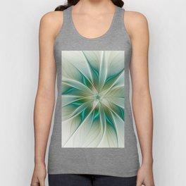 Floral Lights, Abstract Fractal Art Unisex Tank Top