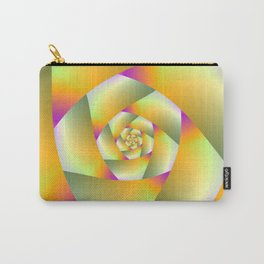 Yellow Pink and Green Spiral Carry-All Pouch