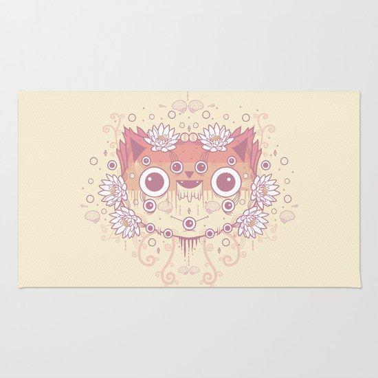 Cat flowers Rug