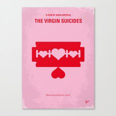 No297 My The Virgin Suicides minimal movie poster Canvas Print