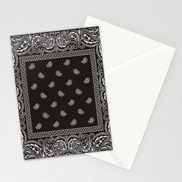 Paisley - Bandana - Black -  Southwestern Stationery Cards