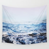 surf Wall Tapestries featuring Surf by Leah Flores