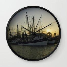 Shrimp boat 2 Wall Clock