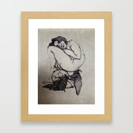 """The weight of you"" Framed Art Print"
