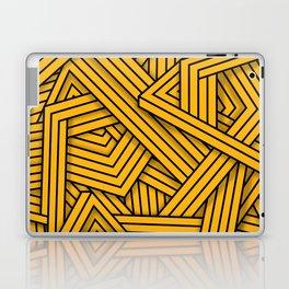 Lines - Yellow Laptop & iPad Skin