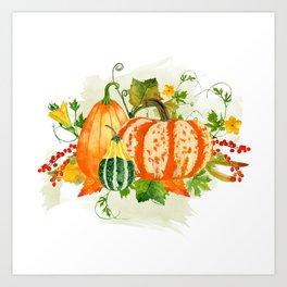 Pumpkin Bouquet Art Print