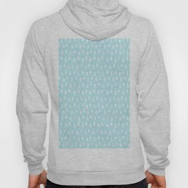 Merry christmas- abstract winter pattern with white trees and snow Hoody