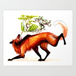 The Maned Wolf Art Print