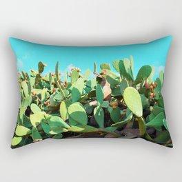 Cactus fruit turquoise Rectangular Pillow