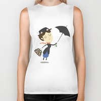 mary poppins Biker Tanks featuring Mary Poppins by Rod Perich