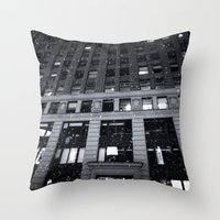 theatre Throw Pillows featuring Paramount Theatre by Benjamin Hunter