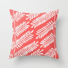 Melon Leaflets Throw Pillow