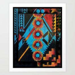 Indian Blankets Art Print