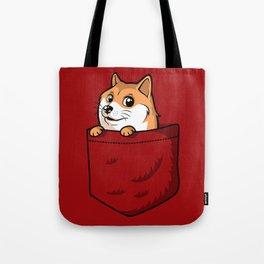 Pocket Shibe (Shiba Inu, Doge) Tote Bag