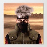 kakashi Canvas Prints featuring Kopi ninja no Kakashi by Shibuz4