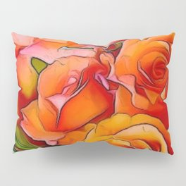 Orange Roses Pillow Sham
