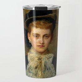 """John Everett Millais """"Countess de Pourtales, the former Mrs Sebastian Schlesinger"""" Travel Mug"""