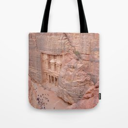 View Over the Treasury, Petra, Jordan Tote Bag