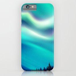 Aurora Synthwave #15 iPhone Case