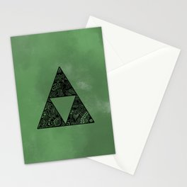 Triforce on Green Stationery Cards