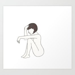 Nude From Side Art Print