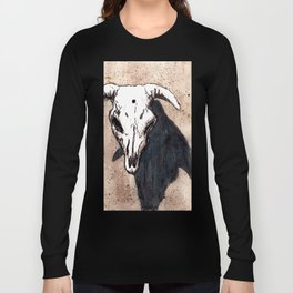 Corrales Cow Skull, Bullet Hole Long Sleeve T-shirt