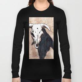 Corrales Cow Skull, Bullet Hole Long Sleeve T-shirt