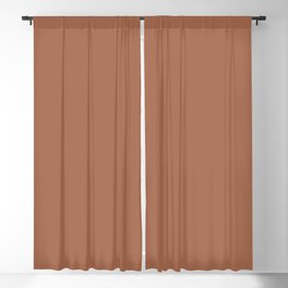 From The Crayon Box – Sepia - Dark Brown Solid Color Blackout Curtain