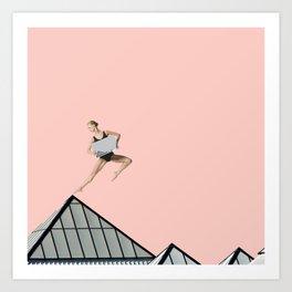 pink arch Art Print