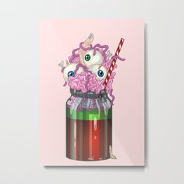 Monster Milkshake Metal Print