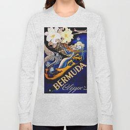 Vintage Bermuda Mermaid Travel Long Sleeve T-shirt
