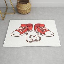 Red sneakers Rug