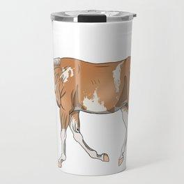 Sato, Palomino Sabino Thoroughbred Travel Mug