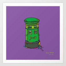 Irish postbox Art Print