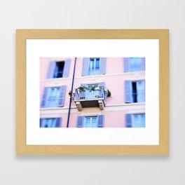 Balcony overlooking Commune di Bellagio Framed Art Print