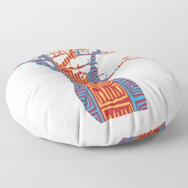 African Baobab tree of life at Sunset Floor Pillow