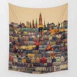 Copenhagen Facades Wall Tapestry