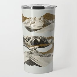 Golden Zugspitze / White Travel Mug